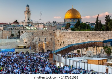 JERUSALEM, ISRAEL - CIRCA MAY 2018: View of the the Western Wall in Jerusalem, Israel circa May 2018 in Jerusalem.