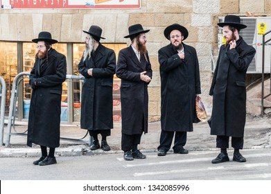 Jerusalem, Israel - December 28, 2016 - Orthodox Jews in Mea She'arim.