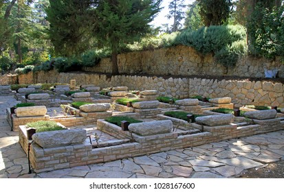Jerusalem, Israel - December 3, 2017: National Civil Cemetery in city Jerusalem Israel