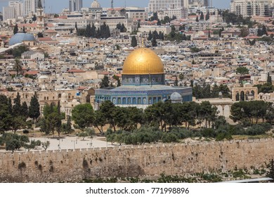 Jerusalem, Israel, Dome of the Rock, Temple Mount, old city, Middle East, Heritage, long shot
