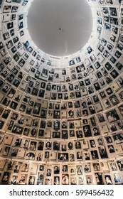 Jerusalem, Israel - February 27th, 2017: Hall of Names in the Yad Vashem Holocaust Museum in Jerusalem