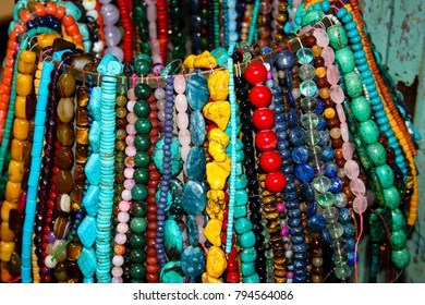 Jerusalem Israel January 13-2018 Jewelry and stones sold in the bazaar of the old city of Jerusalem in Israel
