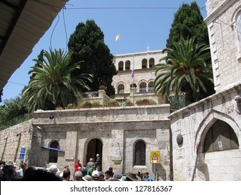 JERUSALEM, ISRAEL -?? JUNE  07: The third station stop Jesus Christ, who bore his cross to Golgotha on June 07, 2010 in Jerusalem, Israel. One of the most sacred and most visited places for Christians