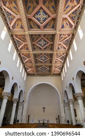 JERUSALEM, ISRAEL - JUNE 09, 2018: Interior of the monastery of Virgin Mary and the Ark of the Covenant, Abu Ghosh, Israel