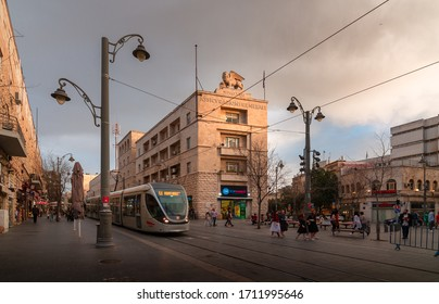 Jerusalem, Israel - March 11, 2020: Generali building on Jaffa street