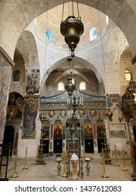 JERUSALEM, ISRAEL - MAY 01, 2019: Interior of the Monastery of the Cross in the Valley of the Cross in Jerusalem