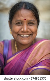 Jerusalem, Israel - May 02, 2015: Portrait of an unidentified Indian woman doing a pilgrimage to Jerusalem.