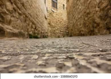 Jerusalem Israel May 10, 2018 View  of the street of the old city of Jerusalem in the evening