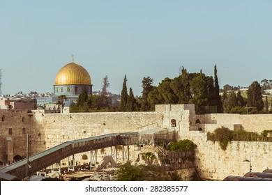 Jerusalem, Israel - May 27: Jerusalem on May 27, 2015 in Jerusalem, Israel.