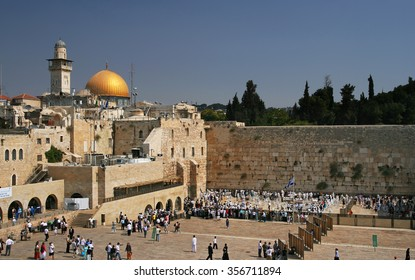 JERUSALEM, ISRAEL - OCTOBER 4, 2007: The Western Wall in Jerusalem temple in Jerusalem, Israel.