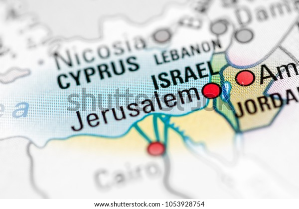 Jerusalem Israel On Map | Miscellaneous Stock Image