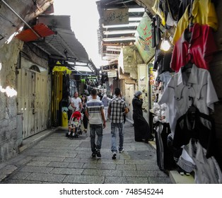 JERUSALEM, ISRAEL - SEPTEMBER 2 2011: Buildings and streets of Jerusalem city in Israel