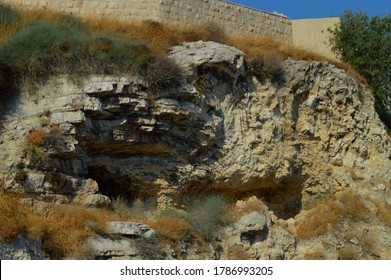 JERUSALEM, ISRAEL - SEPTEMBER 9TH, 2019:  Golgotha, the place where Jesus was crucified according to the canonical Gospels