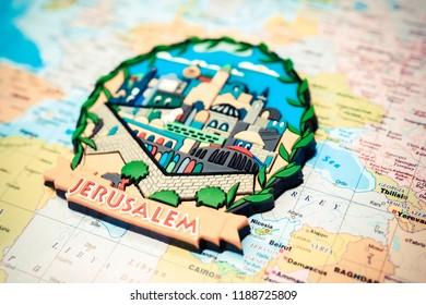 Jerusalem map background