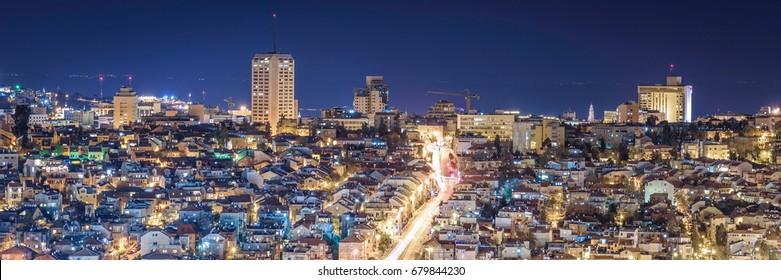 Jerusalem night panorama