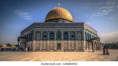 Jerusalem - October 04, 2018: The Dome of the Rock in the old City of Jerusalem, Israel