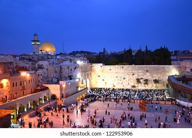 JERUSALEM - OCTOBER 1: Western Wall on October 1, 2012 in Jerusalem. Western Wall, Wailing Wall is the most sacred site recognized by the Jewish faith.