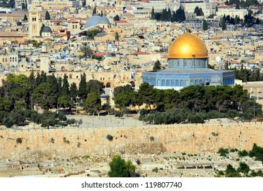 JERUSALEM � OCTOBER 6: Dome of the Rock on October 6, 2012 in Jerusalem. Dome of the Rock is a Muslim mosque which has been refurbished many times since its initial completion in 691 AD.