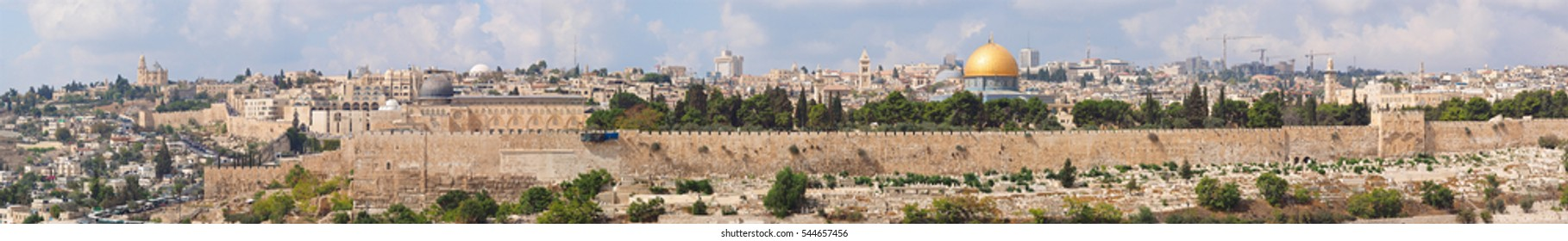 Jerusalem old city panorama,Israel