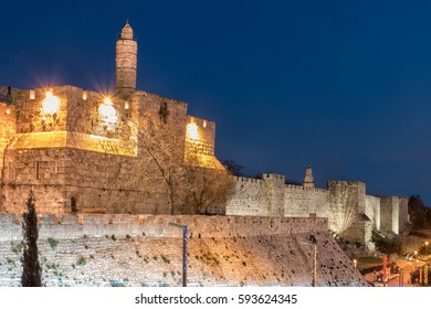 Jerusalem Old City - Tower of David at Night