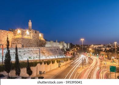 Jerusalem Old City - Tower of David at Night