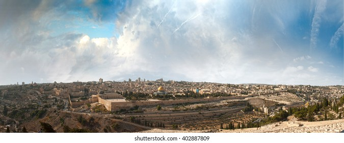 jerusalem, panorama, holy land, ground, sacred, israel
