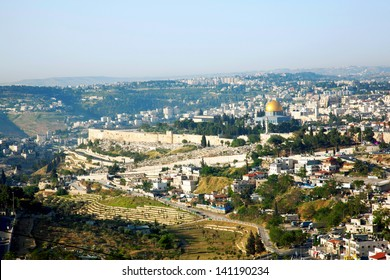 Jerusalem, view of the old city.