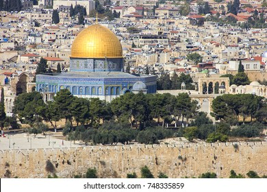 Jerusalem, view of the old town from the Mount of Olives