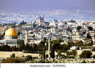 Jerusalem view from the Olive mountain, Israel