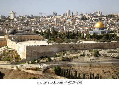 JERUSALEM view panorama old city Dome of the Rock