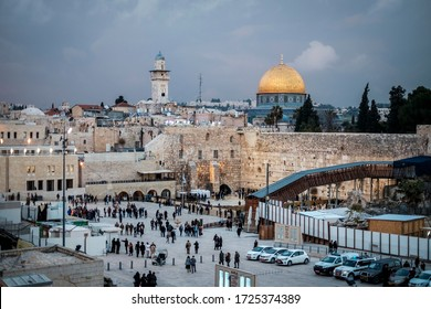 Jerusalem/Israel - January 25, 2018: View of the Estern Wall