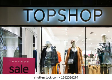 Jerusalem/Israel November 12, 2018 Topshop store. Top shop is a British fashion retailer
