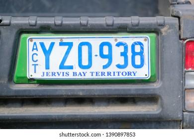 Jervis Bay territory number plate April 2019 Australia