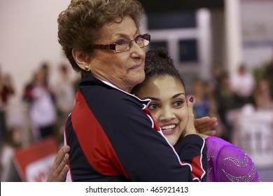 Jesolo, Italy -  19 March 2016: IX Jesolo Gymnastics Trophy Cup, All Around Senior Team