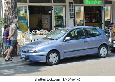 JESOLO, ITALY - JUNE 22, 2014: FIAT Bravo  (Type 182) small family 1990s car produced by the Italian automaker Fiat from 1995 to 2001.