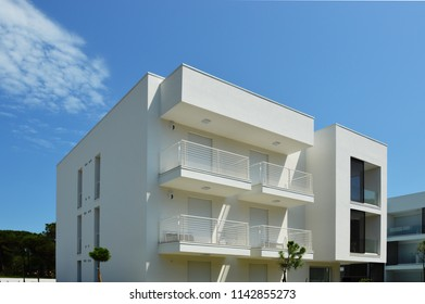 Jesolo Lido, Veneto, Italy – jul 24 2018: Malibù beach residential buildings