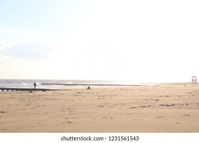 Jesolo's beach in Winter