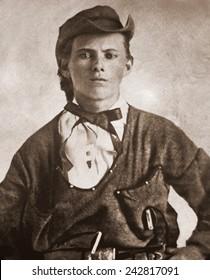 Jesse James (1847-1882). Portrait ca. 1870s.