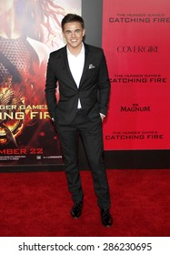 "Jesse McCartney at the Los Angeles premiere of ""The Hunger Games: Catching Fire"" held at the Nokia Theatre L.A. Live in Los Angeles on November 18, 2013."