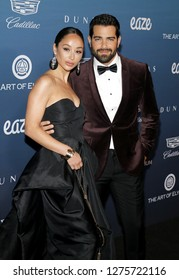 Jesse Metcalfe and Cara Santana at the Art Of Elysium's 12th Annual Heaven Celebration held at the Private Venue in Los Angeles, USA on January 5, 2019.