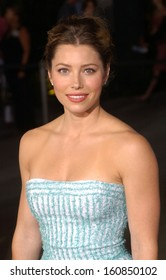 Jessica Biel at the premiere of CELLULAR, Sept 9, 2004, in Los Angele