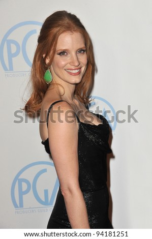 Jessica Chastain at the 23rd Annual Producers Guild Awards at the Beverly Hilton Hotel. January 21, 2012  Los Angeles, CA Picture: Paul Smith / Featureflash