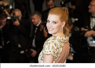 Jessica Chastain attends In The Fade, Aus Dem Nichts premiere at the 70th Festival de Cannes.