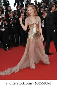 Jessica Chastain at the gala screening of Lawless, in competition at the 65th Festival de Cannes. May 19, 2012  Cannes, France Picture: Paul Smith / Featureflash