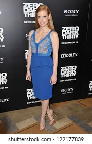 """Jessica Chastain at the premiere of her movie """"Zero Dark Thirty"""" at the Dolby Theatre, Hollywood. December 10, 2012  Los Angeles, CA Picture: Paul Smith"""