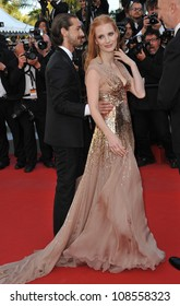 Jessica Chastain & Shia LaBeouf at the gala screening of Lawless, in competition at the 65th Festival de Cannes. May 19, 2012  Cannes, France Picture: Paul Smith / Featureflash