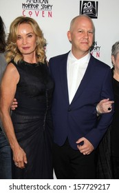"""Jessica Lange and Ryan Murphy at the """"American Horror Story Coven"""" Red Carpet Event, Pacific Design Center, West Hollywood, CA 10-05-13"""