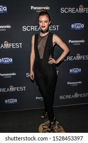 """Jessica Park attends 19th Annual Horror Film Festival – ScreamFest - Opening Night """"Eat, Brains, Love"""" Los Angeles Premiere at TLC Chinese Theatre, Hollywood, CA on October 8, 2019"""