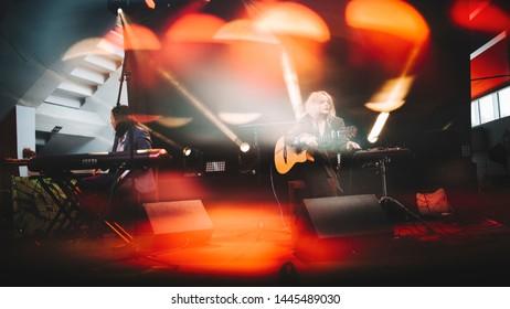 Jessica Pratt at Sideways festival. Helsinki, Finland - 6-8 June 2019,  Helsinki Ice Hal.