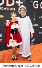 Jessica Seinfeld, Jerry Seinfeld attend GOOD+ Foundation's 3rd Annual Halloween Bash at Sony Pictures Studio, Los Angeles, California on October 28th, 2018